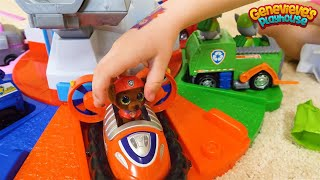 Genevieve Opens Paw Patrol Mini Boos Surprise Toys!