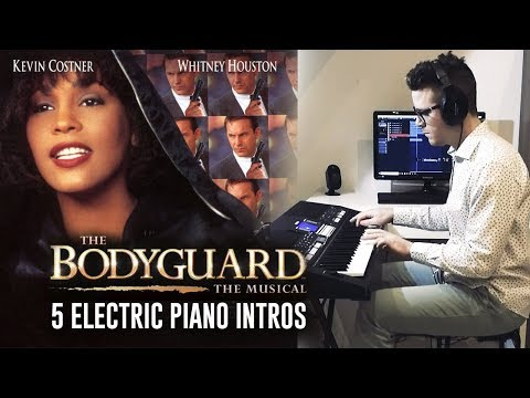 THE BODYGUARD - WHITNEY HOUSTON l 5 PIANO INTROS [MEDLEY]