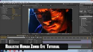 Realistic Human Zombi Eye (Adobe After Effects Tutorial)  На русском