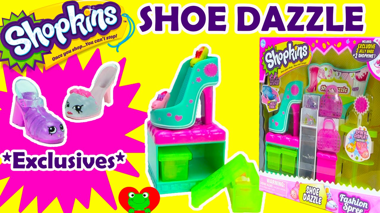 1ce7c4f3e78 Shopkins Shoe Dazzle Playset Season 3 Fashion Spree - YouTube