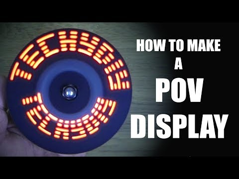 How to Make a POV Display (Persistence of Vision)  |  Arduino Electronics Project