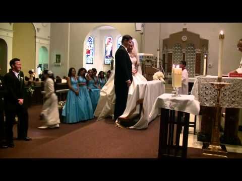 Fun clip of the best man  - Santa Barbara Our Lady of Sorrows church