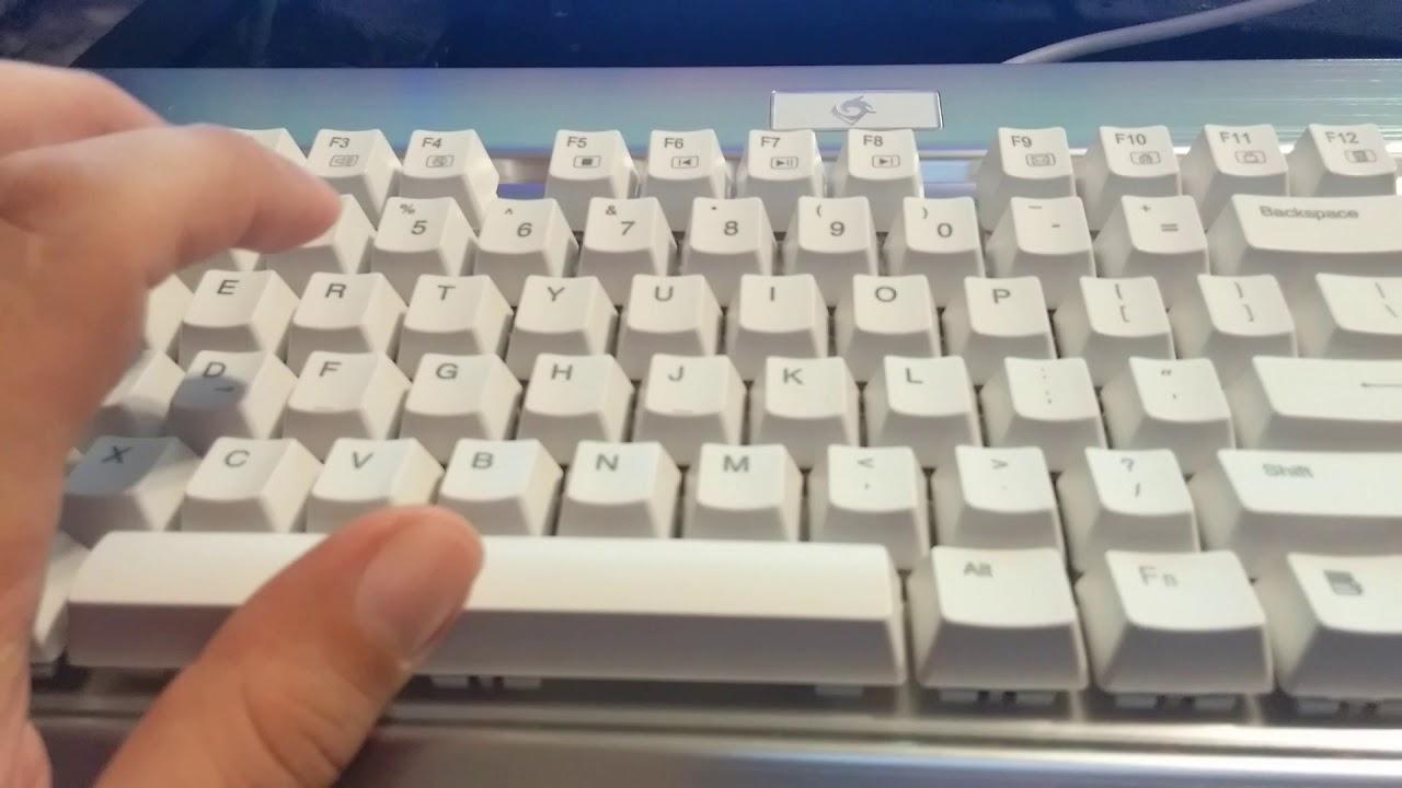 aafa03a8fb9 EagleTec Mechanical Keyboard. Nice and crunchy - YouTube