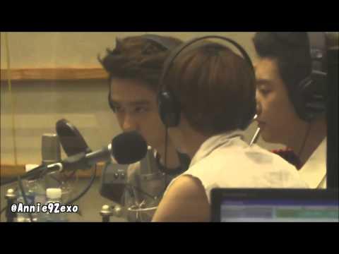 130626 14 EXO  Hugging Do Super Junior Ryeowook  Chanyeol Chen @ Sukira Kiss The Radio KTR Fancam
