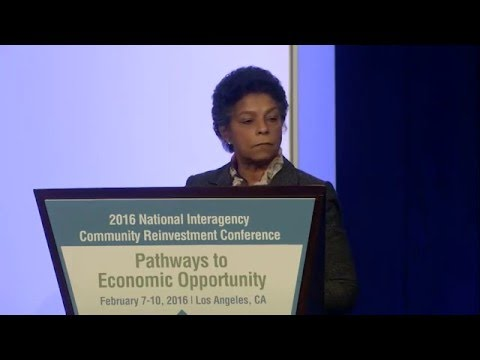 RWJF CEO Risa Lavizzo-Mourey at the 2016 National Interagency Community Reinvestment Conference