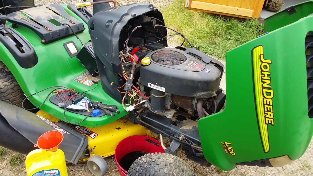 small resolution of john deere l100 lawn tractor diagnosis complete electrical issues identified time to button up