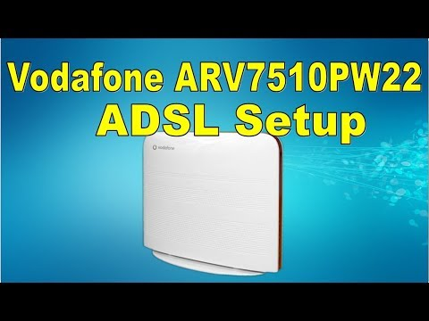 Setup Vodafone ARV7510PW22 ASTORIA Router as ADSL | ADSL على