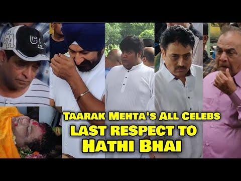 Taarak Mehta's All Celebs BREAK DOWN In Dr Haathi Bhai Funeral   Kavi Kumar Azad Last Rites   Video