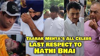 Taarak Mehta's All Celebs BREAK DOWN In Dr Haathi Bhai Funeral | Kavi Kumar Azad Last Rites | Video