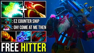 ePIC FREE HIT ELECTRIC SNIPER vs Counters | Stop Everything With Crazy Knockback Headshot Dota 2