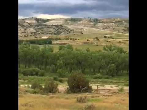 Theodore Roosevelt National Park, North Unit.  As seen from across the Little Missouri River.