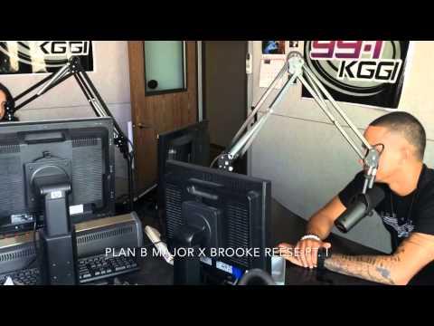 Plan B Major live at 99.1 KGGI iHeart Radio w/ Brooke Reese