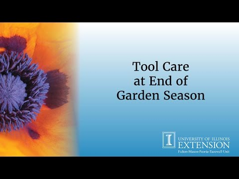 Tool Care at End of Garden Season