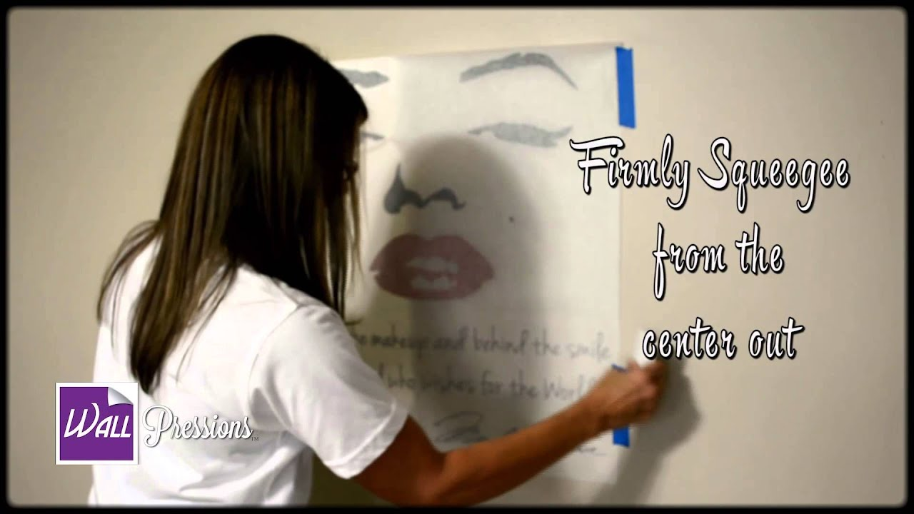 How to apply vinyl decal wall decal youtube amipublicfo Image collections