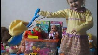 Алиса, лопатка и коляска для кукол !!!