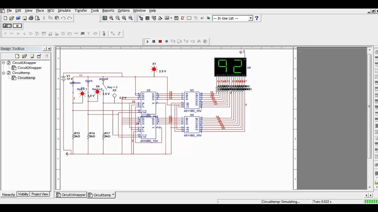Multisim simple counter circuit  YouTube