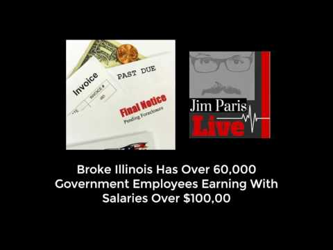Broke Illinois Has Over 60,000 Government Employees With $100,000 Plus Salaries