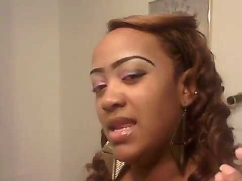 Style for big forehead/ Sol Outre hair - YouTube