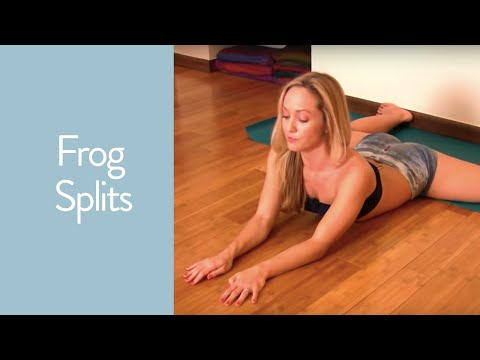 Yoga Frog Splits to Deepen your Straddle on the Wall with Kino