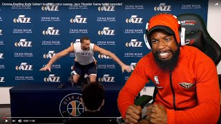 RUDY GOBERT TOUCHED MICS IN INTERVIEW WITH CORONA! THE NBA IS CANCELLED OVER CORONA VIRUS!