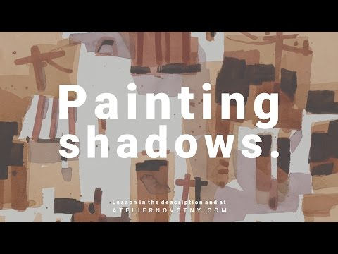 Painting shadows. Watercolor demonstration by Daniel Novotny