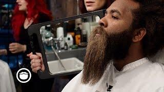 Massive Black Curly Beard gets Trimmed | ASMR thumbnail