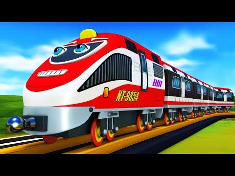 Cartoon Cars and Cartoon Trains for Children - Toy Factory Cartoon.