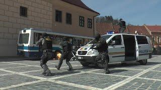 Politistii brasoveni in actiune, in Piata Sfatului - Ziua Politiei 2015