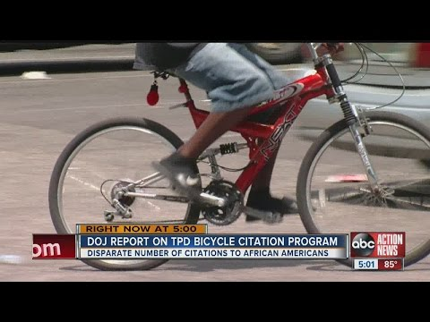 Department of Justice releases report on Tampa Police Department's bicycle citation program