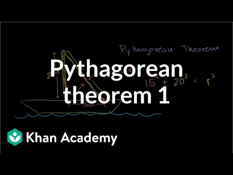 Pythagorean theorem 1 | Right triangles and trigonometry | Geometry | Khan Academy