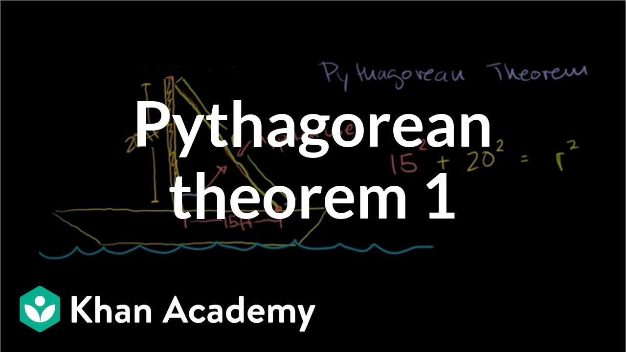 pythagorean theorem word problem fishing boat video khan academy