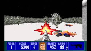 Wolfenstein 3D The Lost Missions EP1: The Hostages Floor 1 (100%)