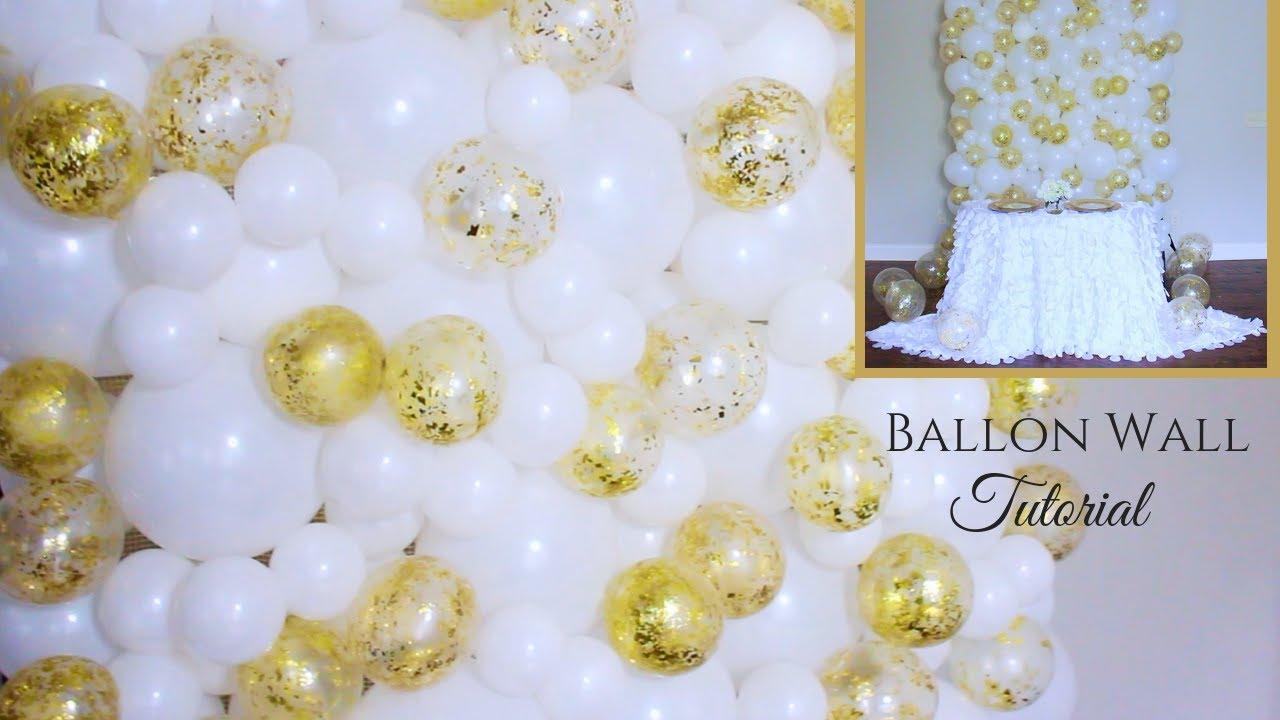 balloon backdrop tutorial wedding backdrop diy youtube. Black Bedroom Furniture Sets. Home Design Ideas