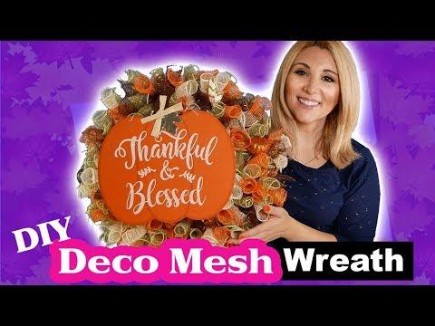 Deco Mesh Wreath Tutorial   DIY   DOLLAR TREE   Episode 35