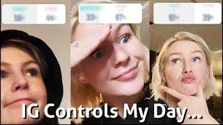 Instagram controls my day!