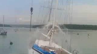 Yacht heel test