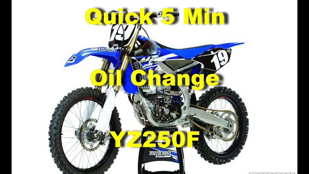 Quick 5 Min Oil Change For A Yamaha Yz250f Youtube