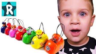 Щенячий патруль и инерционные машинки. Новые игрушки. Видео для детей. Paw Patrol Mad Cars Surprises