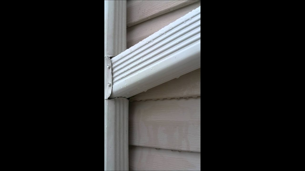 Bradley Gutter Install Downspout Connection Youtube