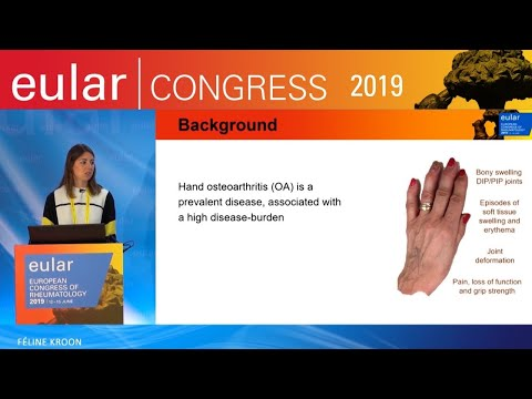 EULAR 2019 - Press conference: Pain symptoms and function in