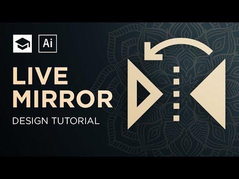 How To Make A Symmetric Design live mirror Adobe Illustrator Tutorial