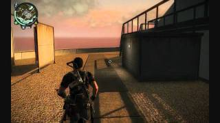 Just Cause 2 Parachute Jumping off very high building