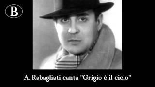 """Pippo Barzizza e i suoi cantanti. Rabagliati in """"Grigio è il cielo"""". Orchestra Cetra, anni"""