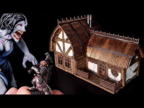 Building a DWARF HOUSE for Crippled God Foundry's new Miniatures