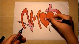 speed drawing AMOR