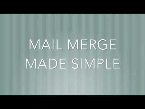 how to Mail Merge Made Easy - YouTube