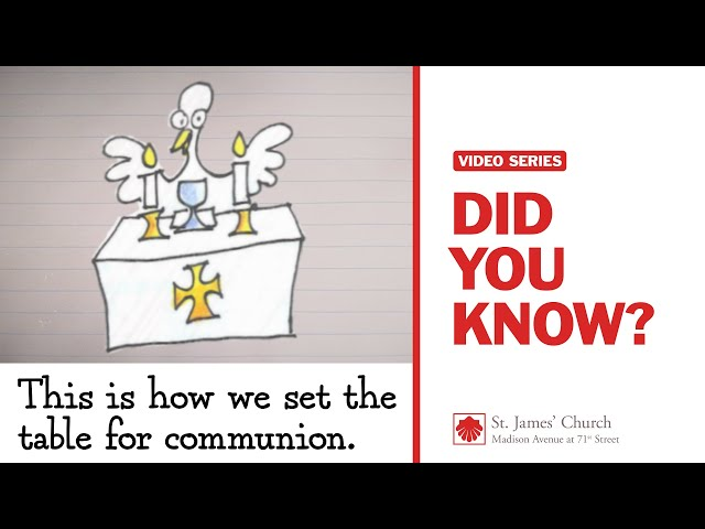 Did You Know? This is how we set the table for communion.