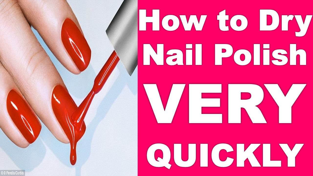 How to Dry Your Nail Varnish EXTREMELY QUICKLY!!! - YouTube