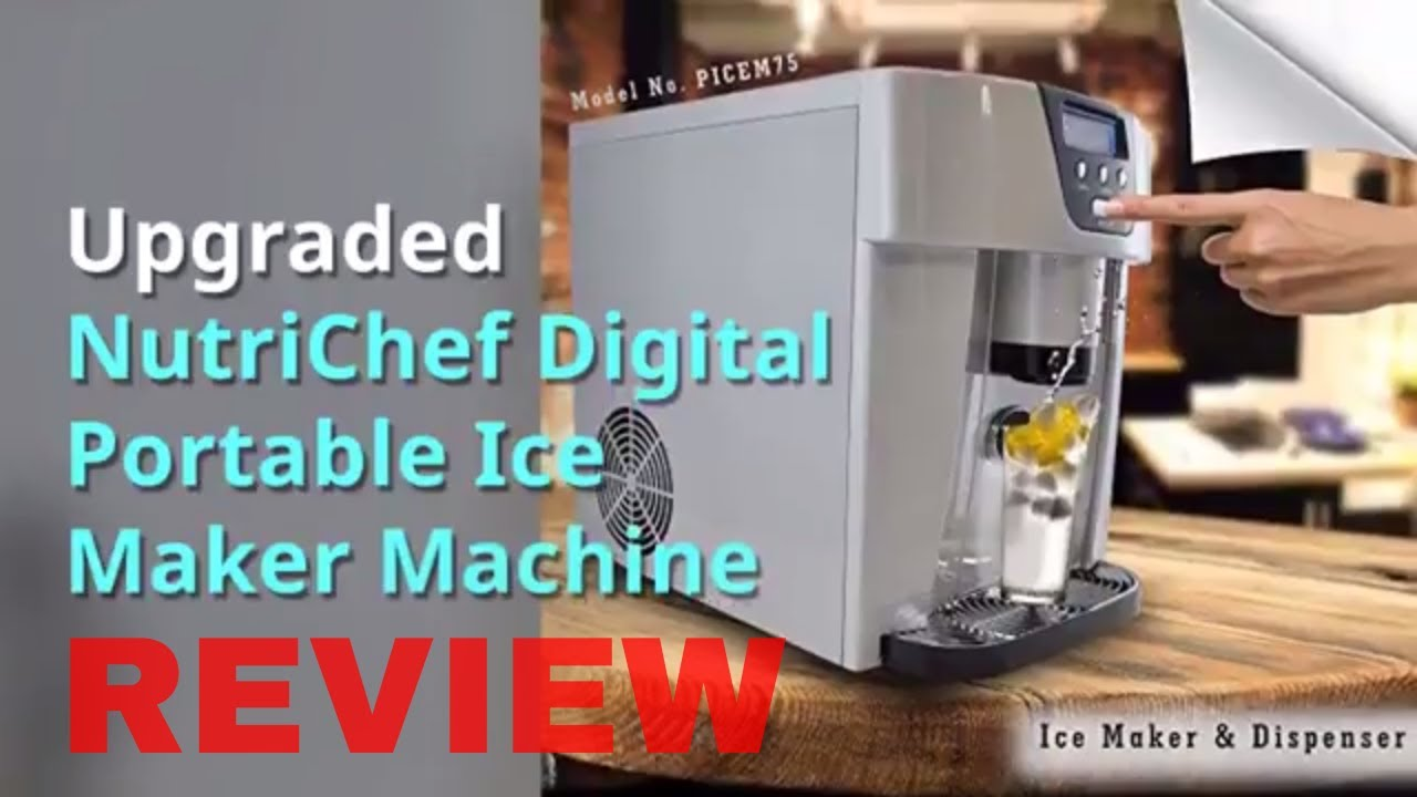 Exceptionnel Upgraded NutriChef Digital Portable Ice Maker Machine   YouTube