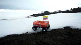 Robot Antartico I en terreno inclinado